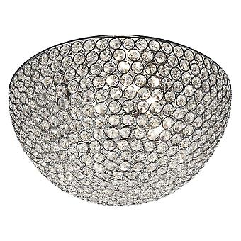 Chantilly Chrom und Kristallglas drei Licht spülen Armatur - Searchlight 5163-35CC