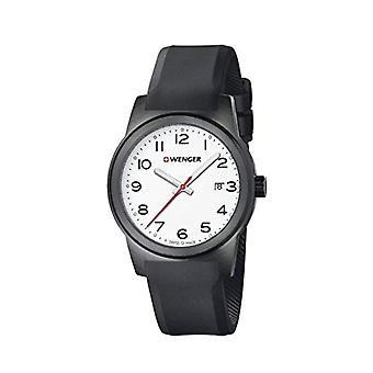 WENGER Mens Quartz analog clock with Silicon strap No.: 01.0441.150