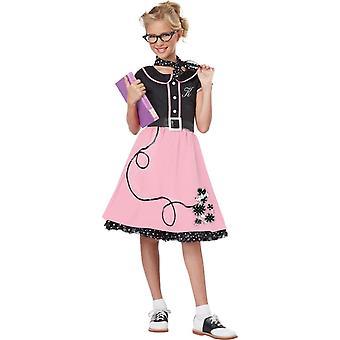 50 ' s Stylish Girl enfant Costume