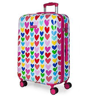 Kind 67 Cm polycarbonaat middellange koffer gestempeld Agatha Ruiz De La Prada 130660