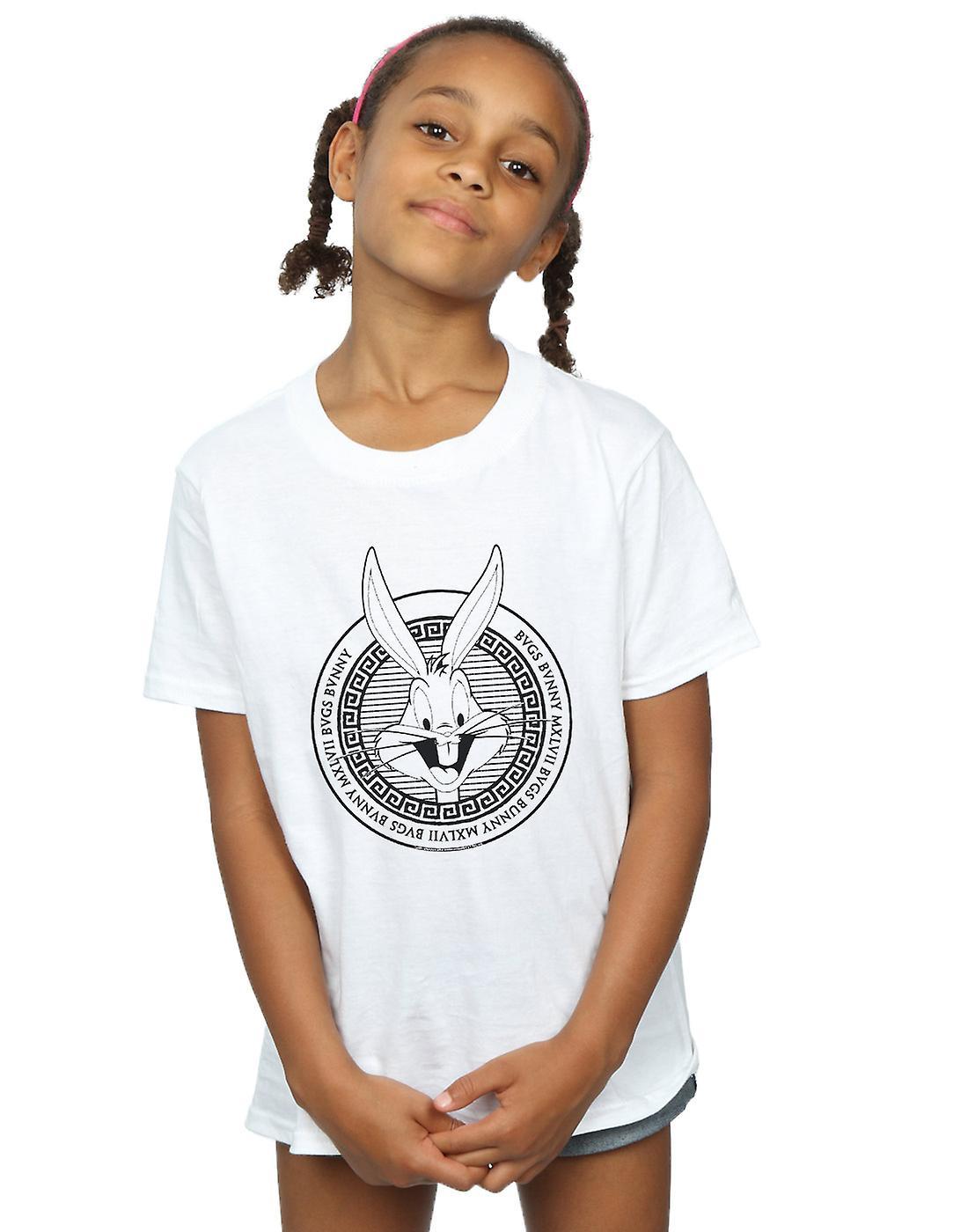 Looney Tunes Girls Bugs Bunny Greek Circle T-Shirt