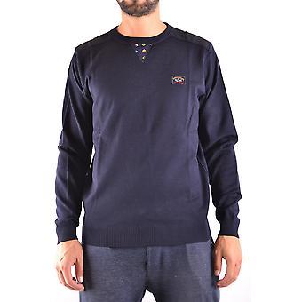 Paul & Shark Ezbc042010 Men's Blue Wool Sweater