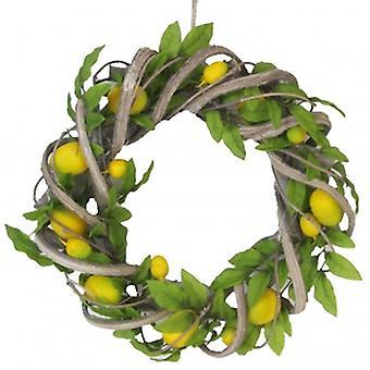 Decorative Lemon Wreath by Gisela Graham