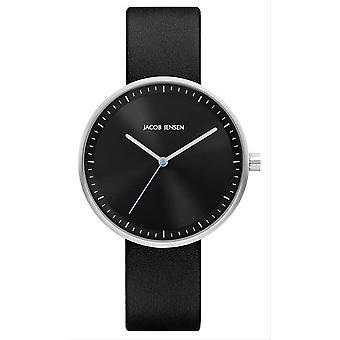 Jacob Jensen Strata Series Watch - Black/Black