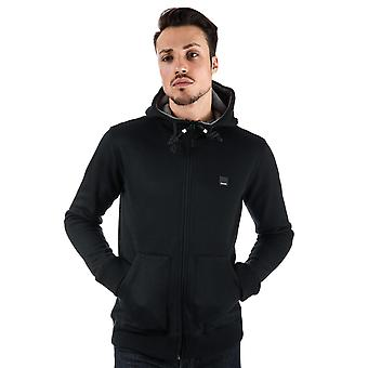 Mens Bench Heavy Bonded Zip Hoody In Black- Zip Fastening- Pockets To Sides-