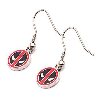 Marvel Deadpool Logo Drop Earrings