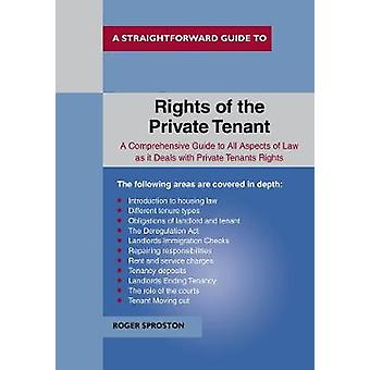 The Rights Of The Private Tenant by Roger Sproston - 9781847167149 Bo