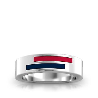 Cincinnati Reds Sterling Silver Asymmetric Enamel Ring In Red and Blue