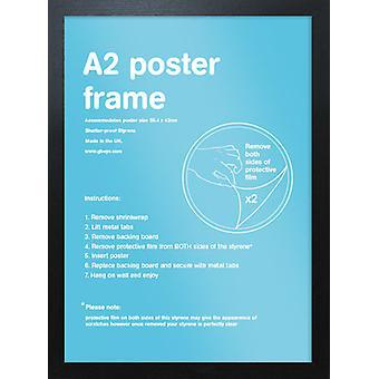 Eton Black Frame A2 Poster / Print Frame