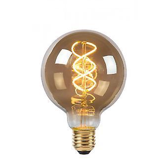 Lucide lampadina LED forma: Rotondo in vetro fumo grigio filamento della lampadina