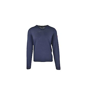 BOSS Athleisure Boss Vasco Pro Slim Fit V Neck Sweater Navy