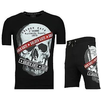 Shorts träningsoverall-försäljning av jogging kostymer män-F567-svart