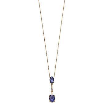 Elements Gold Stick Drop Pendant - Purple/Gold