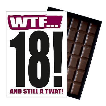 Śmieszne 18 urodziny prezent niegrzeczny niegrzeczne prezent dla nastolatek 85G czekolada karta IYF109