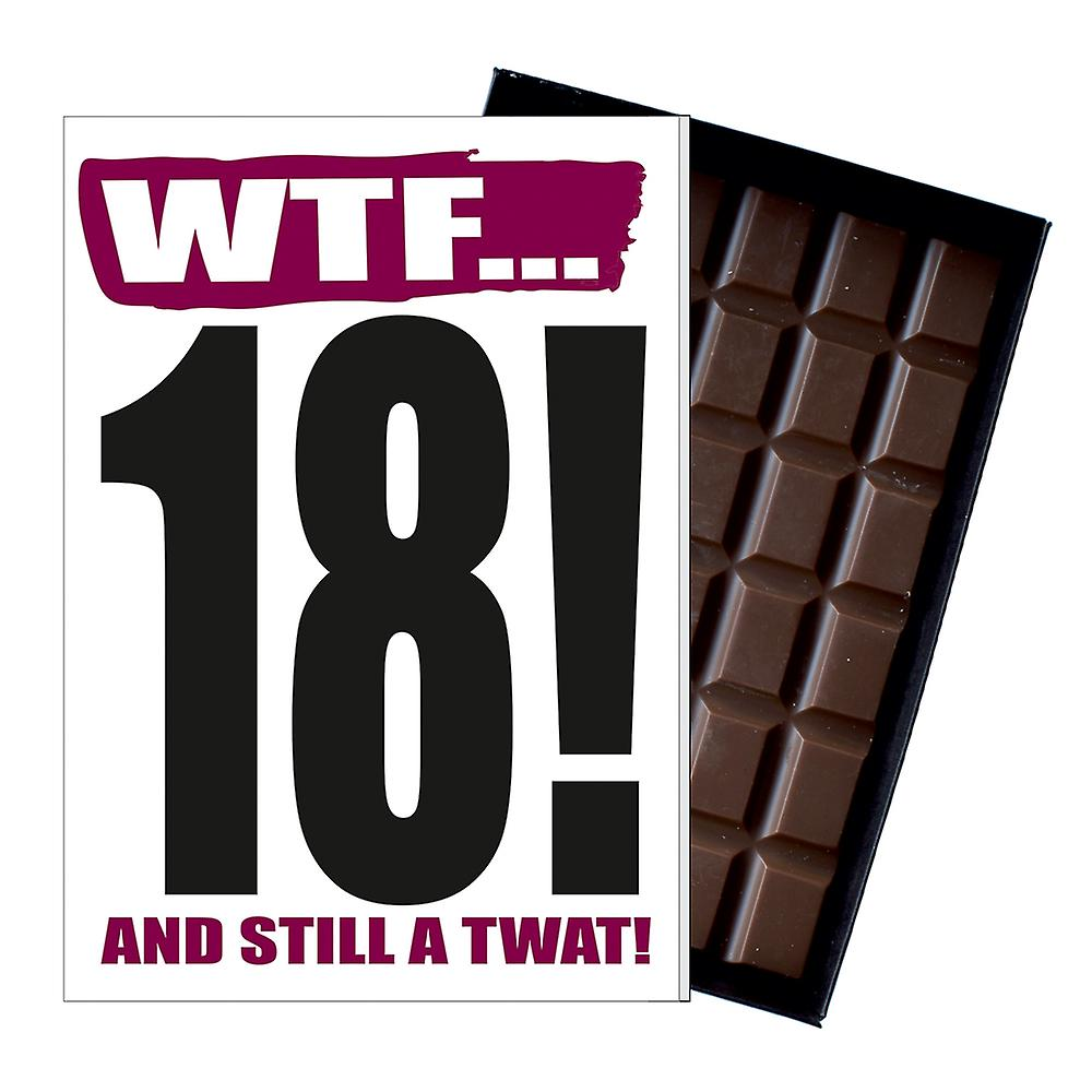 Funny 18th Birthday Gift A Rude Naughty Present for Teenager 85g Chocolate Card IYF109