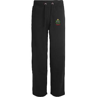 Royal Tank Regiment Veteran - lizenzierte britische Armee bestickt offenen Hem Sweatpants / Jogging Bottoms