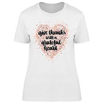 Merci avec Grateful Heart Tee Women-apos;s -Image par Shutterstock