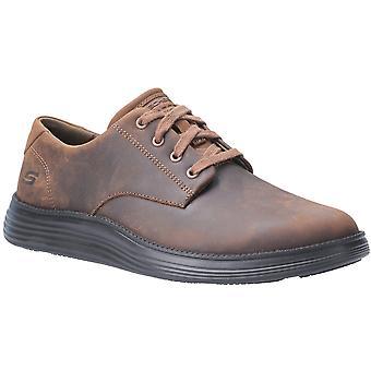 Skechers Mens Status 2.0-Arleno Low Profile Oxford Shoes