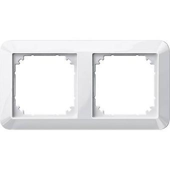 Merten 2x Frame 1-M, System M Polar white glossy 389219