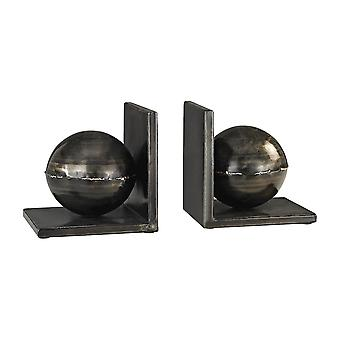 Fugue bookends in holmes bronze - set of 2