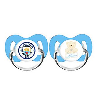 Manchester City FC Baby Soothers Pack Of 2