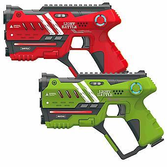 4 Anti-Cheat lasergame pistolen - groen en rood