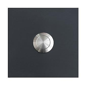 MOCAVI RING 110 stainless steel-quality Bell anthracite grey matt RAL 7016 square (7.5 x 7.5 x 0. 2cm) design ring