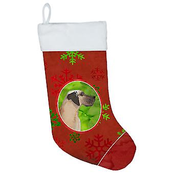 Carolines Treasures  CK3991CS Christmas Snowflakes Great Dane Christmas Stocking