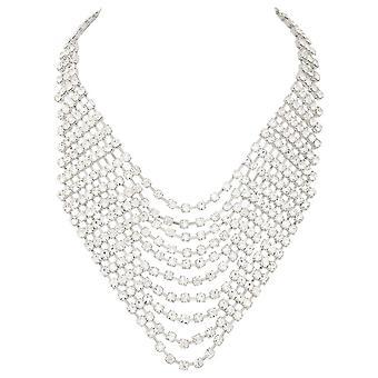 Eternal Collection Panache Clear Crystal Diamante Bib Necklace