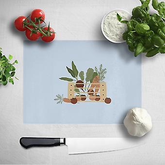 Vegetables In A Box Chopping Board