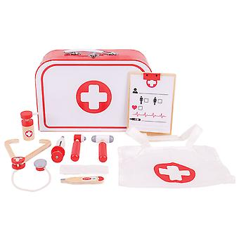 Bigjigs Toys Wooden Doctor's Kit Pretend Play Nurses Medical Roleplay Kids