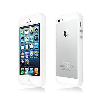 Decoro Premium TPU / PC Material Bumper for Apple iPhone 5 / 5S (White)