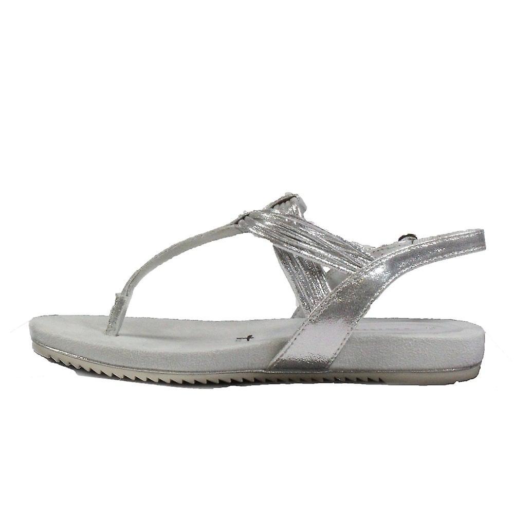 Tamaris 28107 sølv dame tå post sandaler