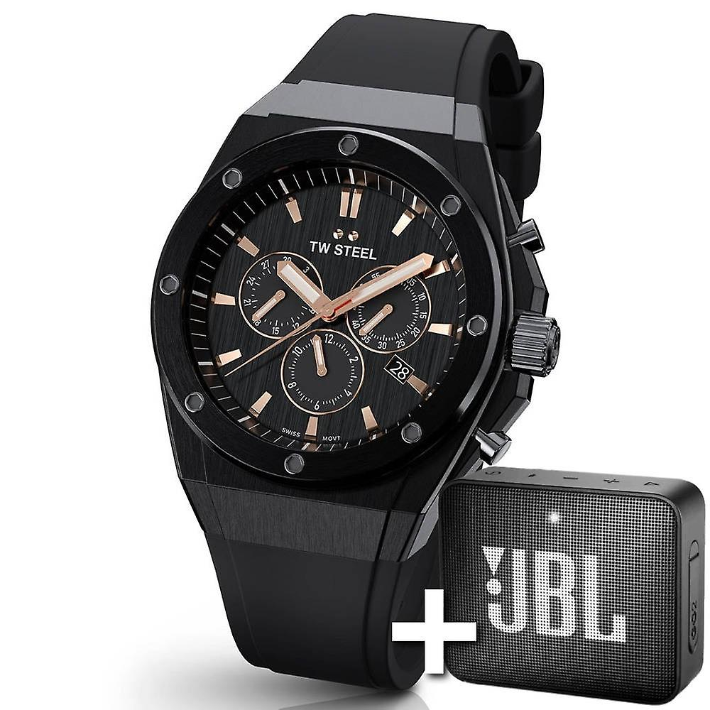 TW Steel Ceo Tech 44 Mm Chronograph Watch Ce4044