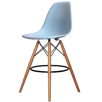 Charles Eames Style Blue Plastic Bar Stool