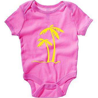 Body neonato rosa raspberry fun2671 palm tree