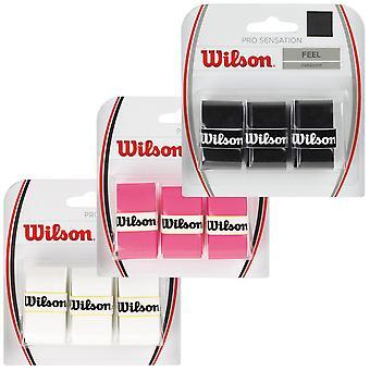 Wilson Pro overgrip for Rackets 3 Pack Tennis-sulka pallo