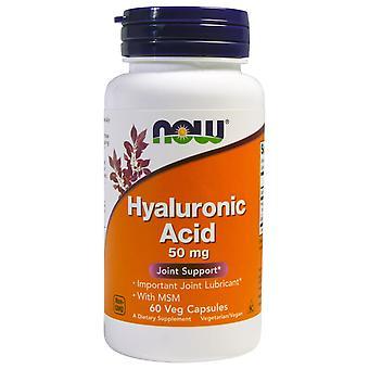 Hyaluronsyre 50 mg (60 veggie caps)-nu fødevarer