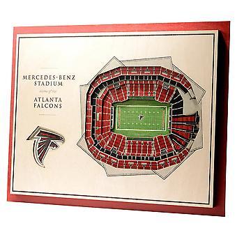 YouTheFan Wood Wall Decoration Stadium Atlanta Falcons 43x33cm