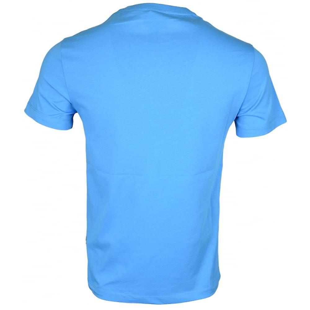 Cavalli Class B3jrb719 Cotton Stretch Snake Logo Turquoise T-shirt