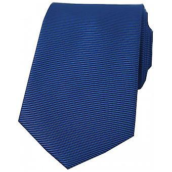 David Van Hagen horizontale côtelée cravate Polyester - bleu Royal