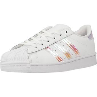 Adidas Originali Scarpe Superstar C Colore Ftwrblanco