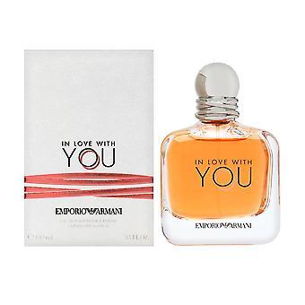 Rakastunut sinuun giorgio armani naisille 3,4 oz eau de parfum spray