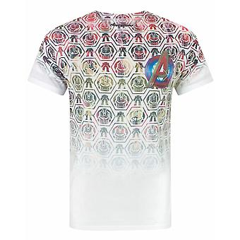 Avengers Age Of Ultron Kuvakkeet Kuvio Sublimaatio Miesten's T-paita