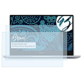 Bruni 2x näytönsuoja yhteensopiva Huawei Honor MagicBook 14 suojaava kalvo