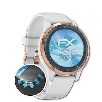 atFoliX 3x Proteggi Schermo compatibile con Garmin Vivoactive 4s chiaro&flessibile