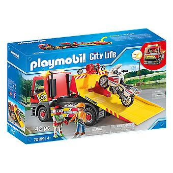 Playmobil 70199 City Life Towing Service 42PC Playset