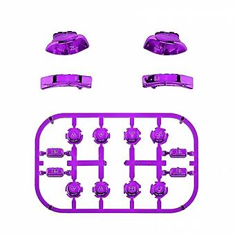 Full button set for nintendo switch joy-con controllers replacement - chrome purple | zedlabz