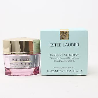 Estee Lauder Resilience Multi-Effect Tri-Peptie Face And Neck Creme 1oz  New