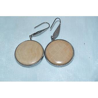 Wood earrings earring horn beam earrings jewelry pendant earrings handmade unique gift stainless steel 2 cm